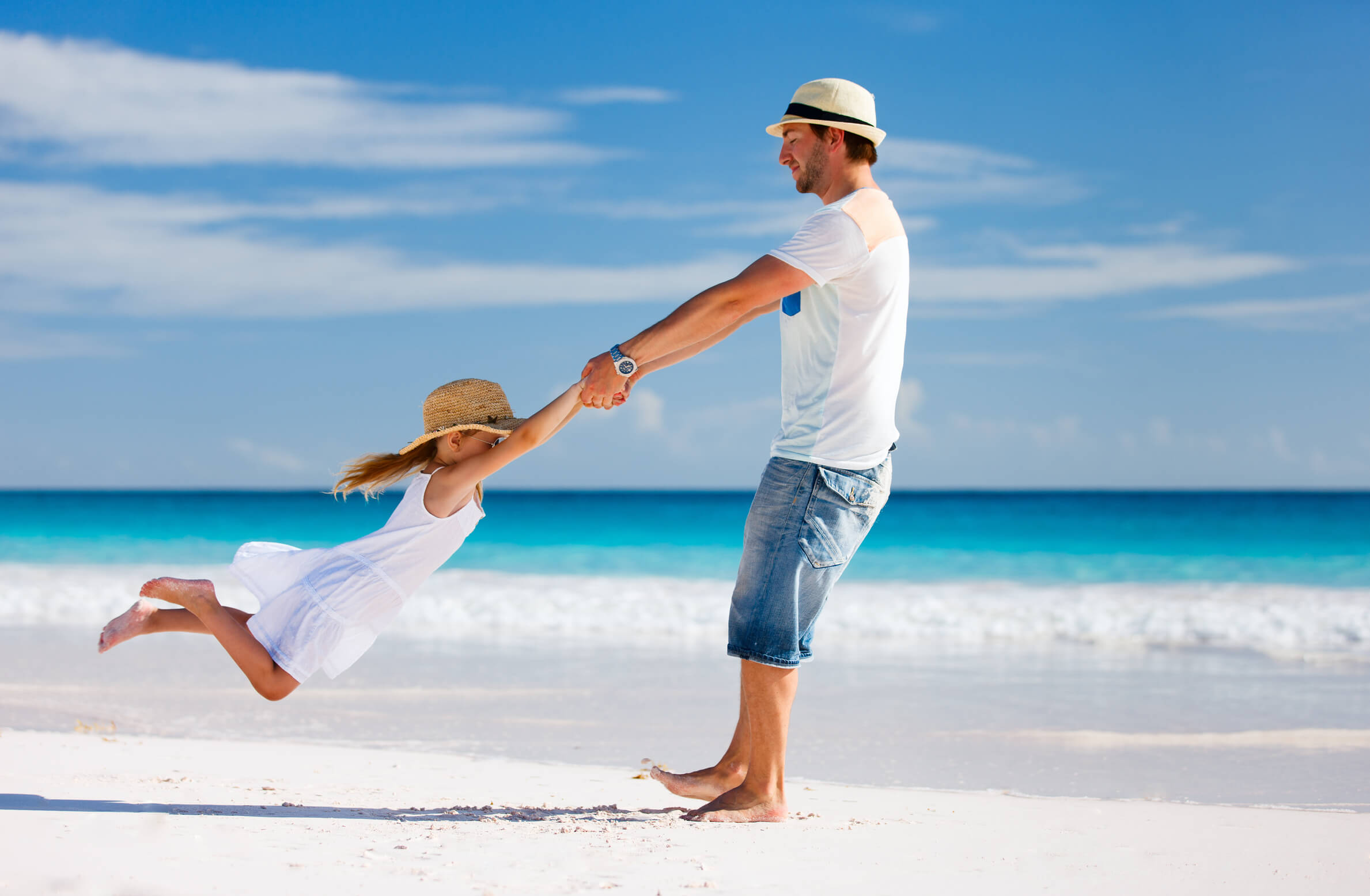 Trusts, Father and daughter at the beach